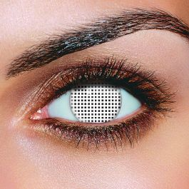 White Mesh Contact Lenses (1 Day)