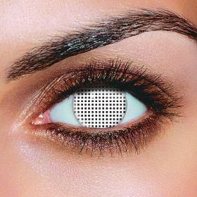 White Mesh Eye Accessories (Pair)