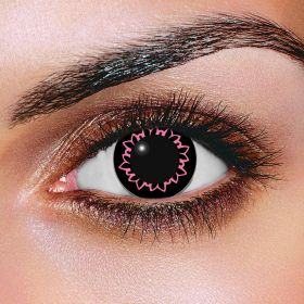 Big Eye Butterfly Pink Contact Lenses