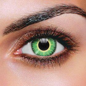 Fusion Green & Yellow Contact Lenses (Pair)