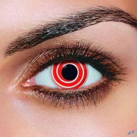 Red Spiral Contact Lenses (Pair)