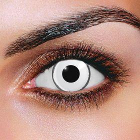 Crazy White Zombie Contact Lenses